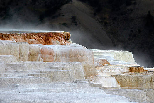 Mammoth Hot Springs, USA by Ronald Jansen