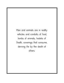 Man and animals are in... by Famous Quotes