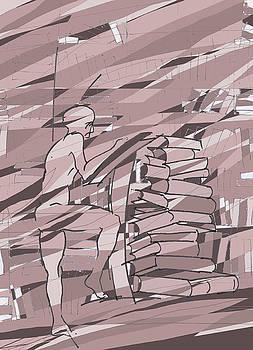 Man and books by Subhendu Buzarbaruah
