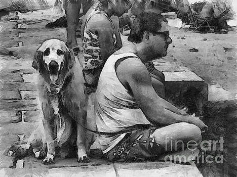 Man and Dog Perspective by Beto Machado