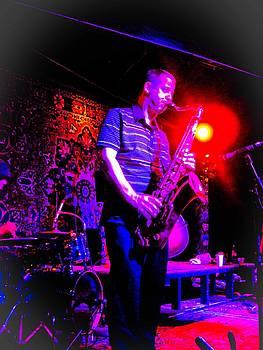 Man and his Sax by Barbara Kelley