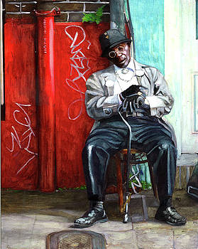 Man Asleep on Bourbon Street by John Boles
