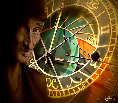 Man Contemplating Astronomical Time by Julie Grace