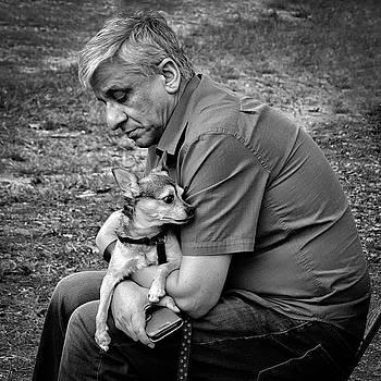 Man/Dog Bonding by Georgette Grossman