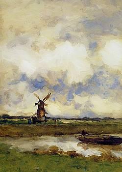 Weissenbruch Johan Hendrik - Man In A Boat In A Canal