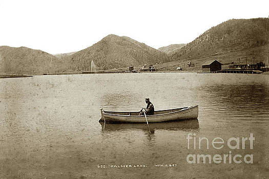 California Views Mr Pat Hathaway Archives - Man in a row boat named Lizzie on Palmer Lake on the Colorado Di