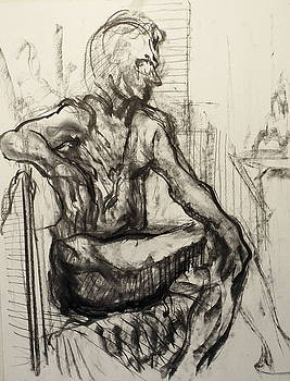 Man In A Seated Pose by Shant Beudjekian