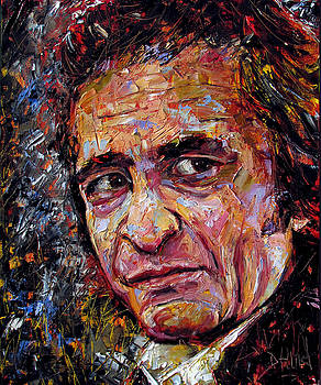 Man In Black Johnny Cash by Debra Hurd