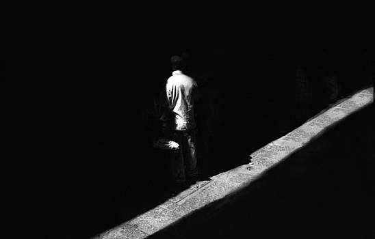 Man in Shadow in Mexico by Alan Mogensen