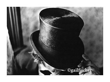 Man in the black top hat by Gail Fischer
