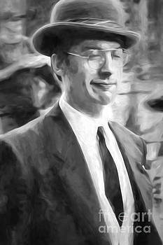 Kathleen K Parker - Man in the Bowler Hat-digital painting