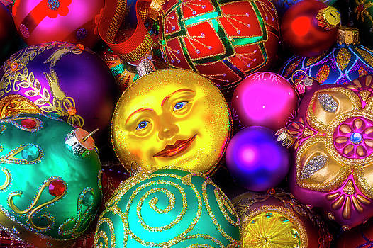 Man In The Moon Ornament by Garry Gay