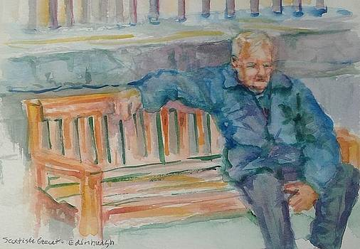 Man on Bench by Ruth Mabee