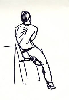 Man On Stool by Natoly Art