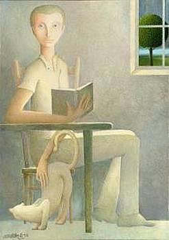 Man Reading by Giuseppe Mariotti