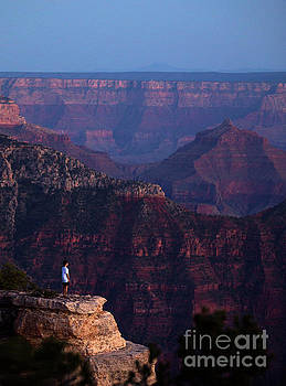 Man Standing on the Edge by Diane Diederich
