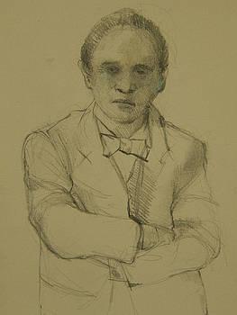 Man with Arms Folded by Nancy Berkan