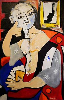 Man with Book by John Keasler