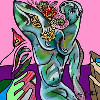 Man with Flowers  by Marcio Melo