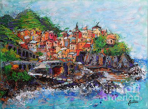 Manarola, Cinque Terre, Italy by Jyotika Shroff