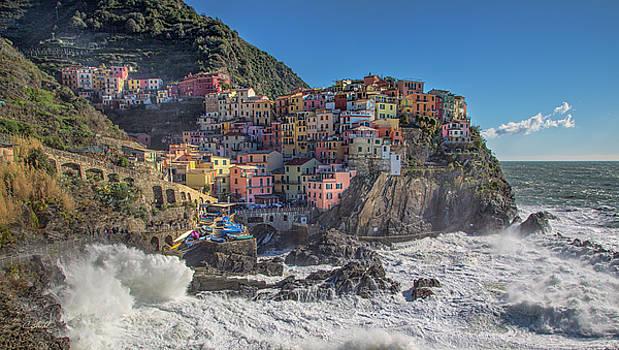 Manarola in Cinque Terre  by Cheryl Strahl