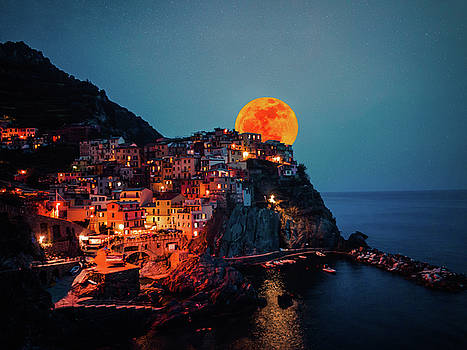Manarola Moonrise by Chris M