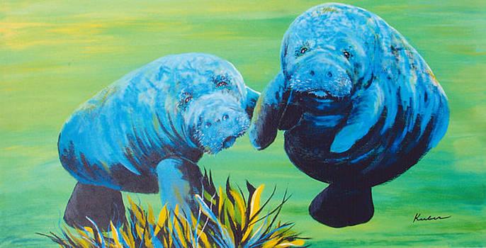 Manatee Love by Susan Kubes