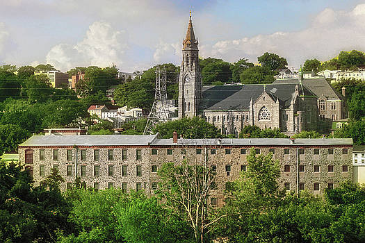 Manayunk Philadelphia - St John the Baptist Church and Schofield Mill by Bill Cannon