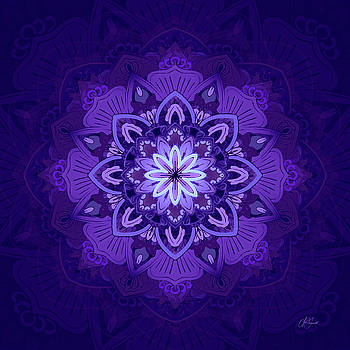 Mandala #2 - Purple by Lori Grimmett