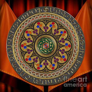 Bedros Awak - Mandala Armenian Golden Alphabet