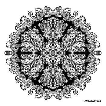 Mandala drawing 36 by Jim Gogarty
