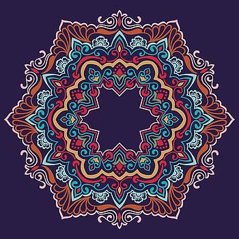 Valdecy RL - Mandala Ornamento Floral Colorido.