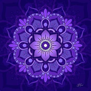 Mandala #1 - Purple by Lori Grimmett