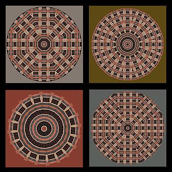 Nikolyn McDonald - Mandala - Quadriptych