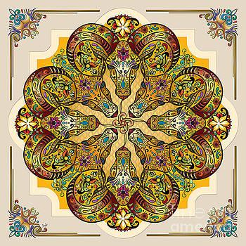 Bedros Awak - Mandala Sacred Rams - Bright Version