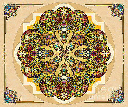 Mandala Sacred Rams - Bright Version Sp by Peter Awax