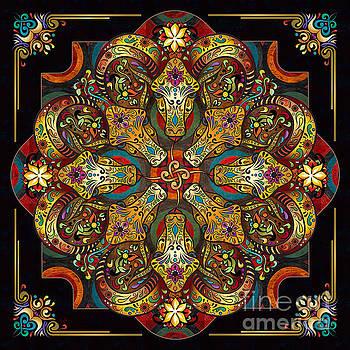 Bedros Awak - Mandala Sacred Rams - Dark Version