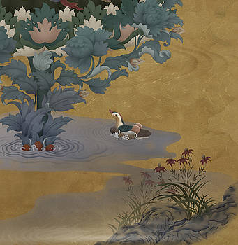Mandarin Duck in Landscape by Ben Christian