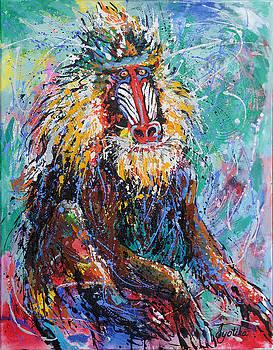 Mandrill Baboon by Jyotika Shroff