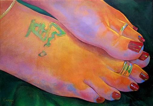 Mandy Toes Orange by Jerrold Carton
