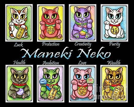Maneki Neko Luck Cats by Carrie Hawks