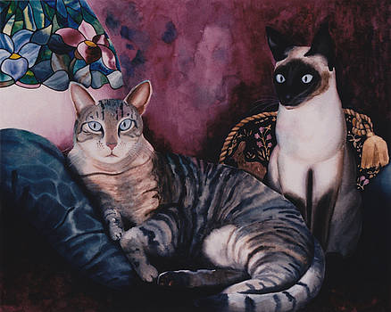 Manet's Olympia Cats by Eve Riser Roberts