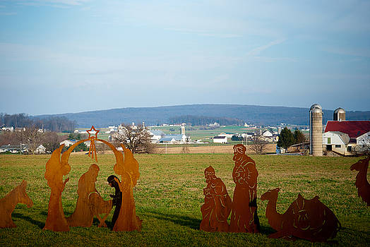 Manger Over Lancaster County Pennsylvania by Heidi Reyher