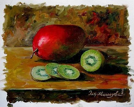 Mango and Kiwi by Eleonora Mingazova