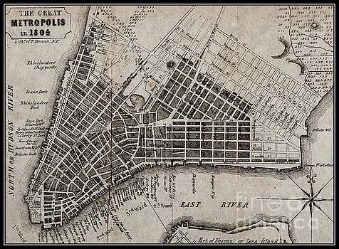 Manhattan 1804 Map by Peter Ogden