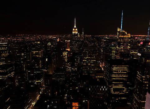 Manhattan at Night by Scott Fracasso