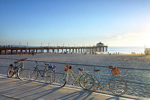 Manhattan Beach bicycles. by Sean Davey