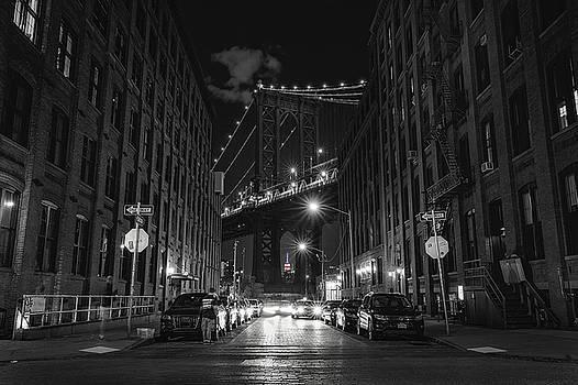 Manhattan Bridge at Night by Kim Zier