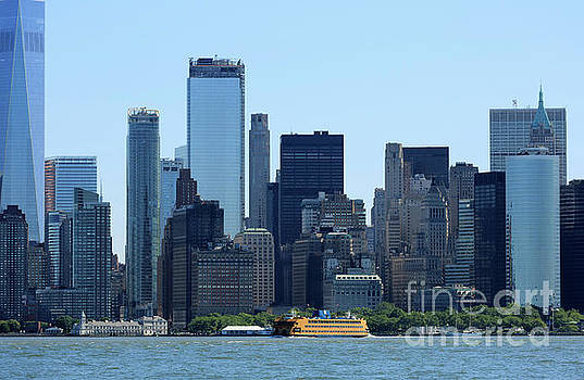 Manhattan from New York Harbor by Louise Heusinkveld