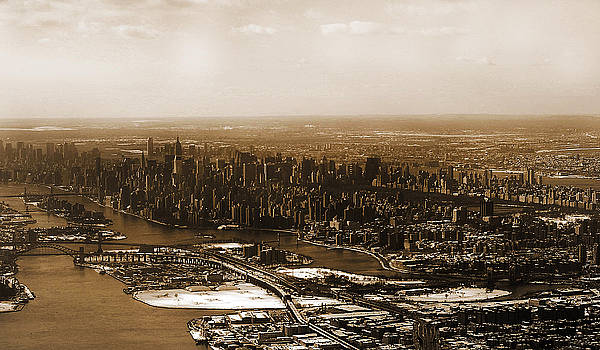 Manhattan in Sepia by Heather S Huston